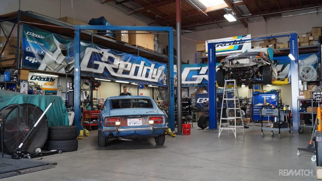 Kyusha beginnings GReddy garage