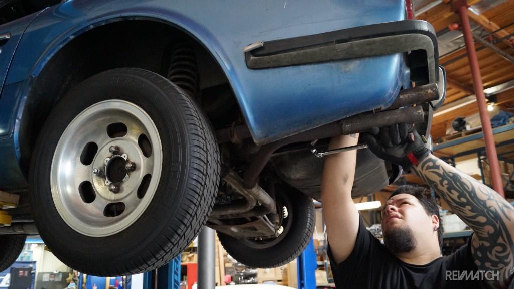 Kyusha beginnings exhaust removal rear